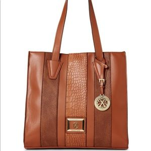 Christian Lacroix Claire Faux Leather Tote Brown